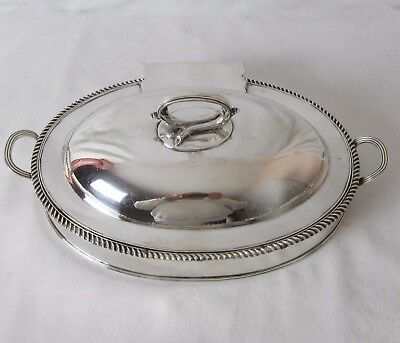 English 3- Pc Silver Plated Cheese Toast Warmer C: 1820 Rare Piece & Lovely