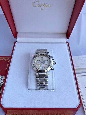 Montres Pasha Cartier Chronograph 1992 (rare) - 38mm Stainless Steel - R40305900