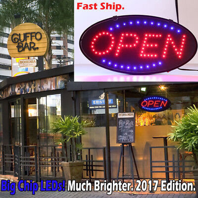 Ultra Bright LED Neon Light Animated Motion with ON/OFF OPEN Business Sign EA1