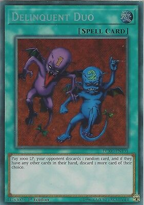 Yu-Gi-Oh: DELINQUENT DUO - LCKC-EN101 - Secret Rare Card - 1st Edition