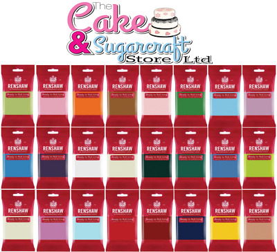 Renshaw Icing 250g, 500g, 750g, 1kg, 2kg - All Colours Free Post