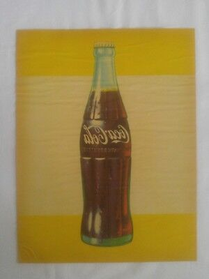 Rare original Vintage 1959 Coca Cola Window Decal Sticker - Coke Bottle