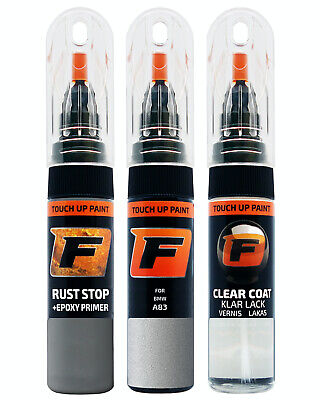 Touch up Paint  for       BMW A83 Glacier Silver Silber        Pen Kit Brush