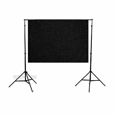 "40×60"" 1.5×1M Solid Black Seamless Flocked Cloth Photography Backdrop Background"
