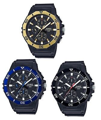 Casio MRW400H Men's Black Resin Band Multifunction Analog 100M Sports Watch