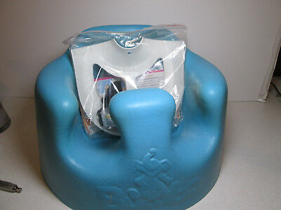 BLUE Bumbo Baby Floor Seat With Safety Straps BLUE