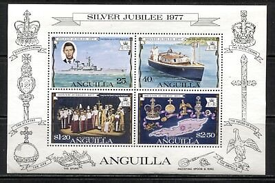 SILVER JUBILEE, SHIPS, PRINCE CHARLES VISIT ON ANGUILLA 1977 Scott 274a MNH