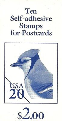 USA  Booklet Pane of 10x 20c: Self-adhesive Stamps for Postcards: 1996: Mint