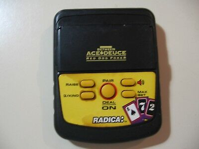 Electronic Handheld Game, Between Ace Deuce Red Dog Poker by Radica, works great