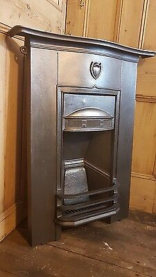 Victorian Edwardian antique castiron fireplace combination bedroom fireplace #C4