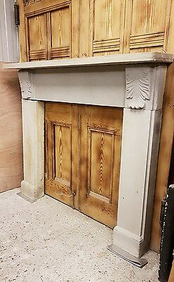 Antique Victorian stone fireplace surround