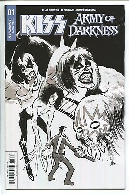 Kiss The Army Of Darkness #1 Kyle Strahm B & W Sketch Variant Cover - 1/10