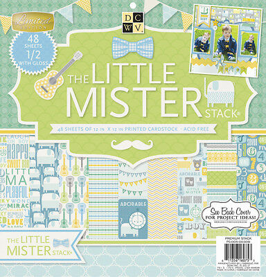 Diecuts With A View Paper Stack, 12 by 12-Inch, Little Mister, 48-Pack