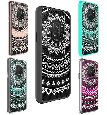 Galaxy S10 S9 S8 Plus S7 edge Case Mandala Pattern Clear Bumper Print Samsung
