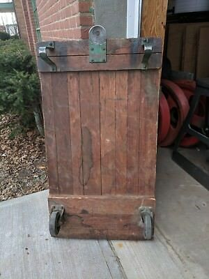 Vintage Industrial Semi Live Platform Railroad Cart / Coffee Table