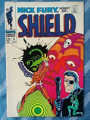 Nick Fury, Agent of S.H.I.E.LD. #5 * High Grade * 12 cent issue * [Marvel,1968]
