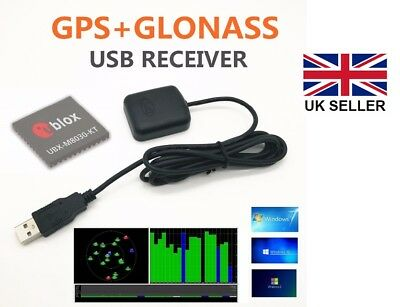 GN-208G USB GPS Receiver with stick down base, Ublox 8, Win 7/8/10, Linux, RasPi