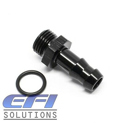 Straight AN6 ORB to 3/8 Barb Fitting (Black) 414-06-06
