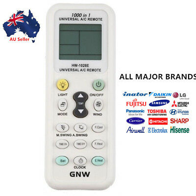 Universal A/C Air Conditioning Remote Control Air Con ALL MAJOR BRANDS LCD DGS