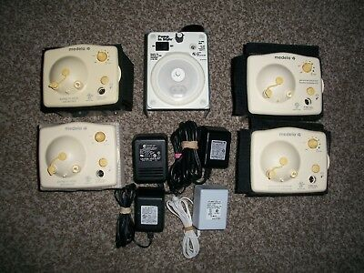 Medela Breast Pump Motors Only w/ AC Adapters PRE OWNED Lot of 5 - CLEANED !!