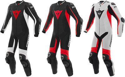 Dainese Mens D-Air Racing Misano 1 Piece Armored Perforated Leather Suit