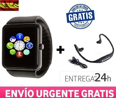Smartwatch Reloj Inteligente Phone GT08 Android Iphone + Auriculares Bluetooth