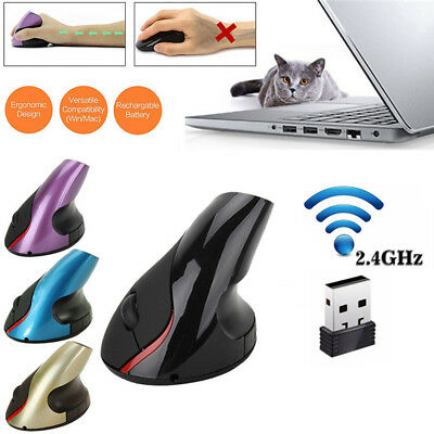 2.4GHz Vertical Wireless Mice Rechargeable Ergonomic Optical Gaming Mouse For PC