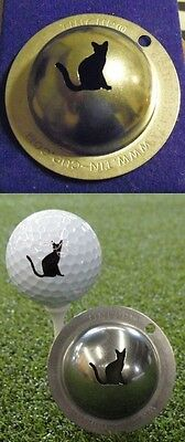 1 only TIN CUP GOLF BALL MARKER - NINE LIVES - EASY TO DO