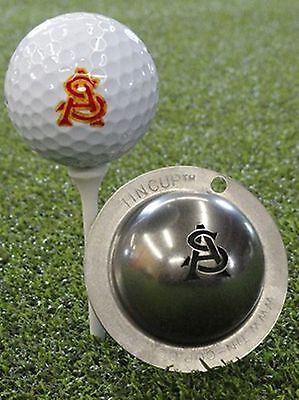 1 only TIN CUP GOLF BALL MARKER - AS OR SA Adam Scott  - EASY  & YOURS FOR LIFE