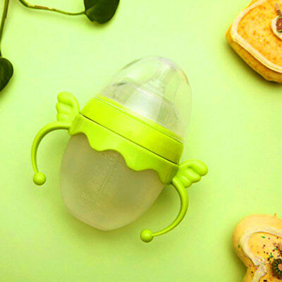 Baby Cup Feeding Bottle Trainer Easy Grip Plastic Handles Holder Practical