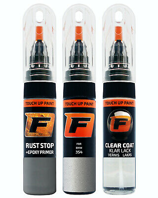Touch up Paint for       BMW 354 Titan Silver Silber         Pen Kit Brush