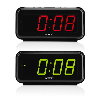 "220V Electronic Table Digital Alarm Clock 1.8"" LED Display Snooze Home Decor EU"
