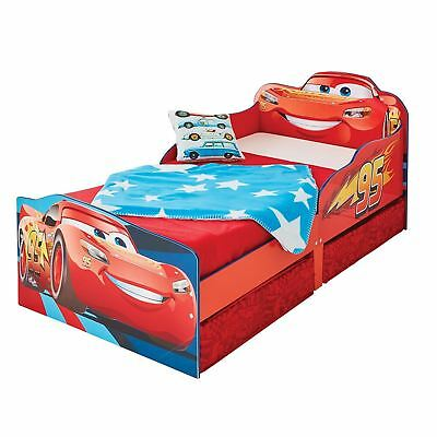 Disney Cars Lightning Mcqueen Toddler Bed With Storage Official New Free P+P