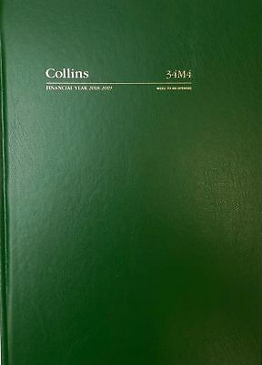 Diary 2018/2019 Financial Year Collins A4 Week to Opening Green 34M4 21x29.7cm