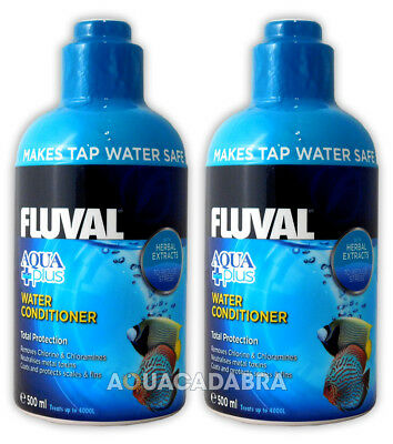 FLUVAL AQUAPLUS 1L (2x 500ml) AQUARIUM TAP WATER SAFE AQUA PLUS FISH TANK