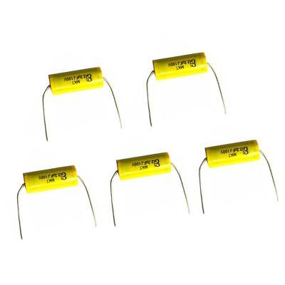 5Pcs 2.2UF 100V Speaker Frequency Capacitor Divider Non-Polarized Crossover