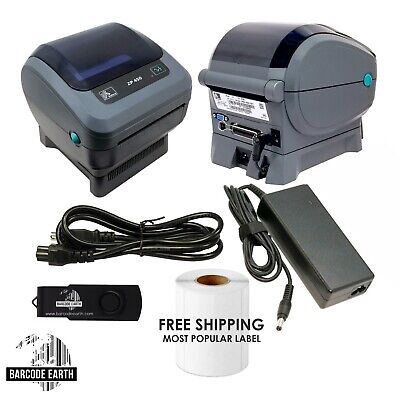 Zebra ZP450 Thermal Label Barcode Printer Remote Tech Support Shipping 250 Label