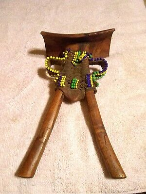 Vintage African Pokot Adorned Headrest