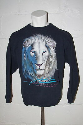 VTG Siegfried and Roy Mirage Las Vegas White Tigers Crewneck Sweatshirt Sz XL