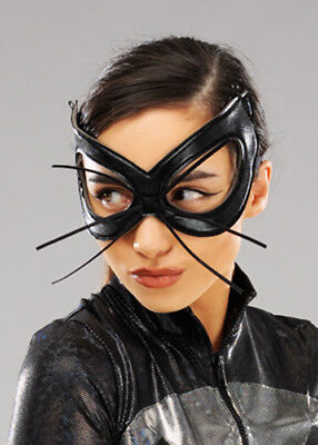 Ladies Gothic Black Bunny Eye Mask with Whiskers