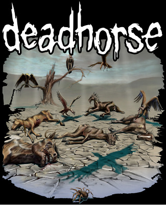 """dead horse Long Sleeve Ts """"Circle of Vultures"""" Art by Mike Packer Final Offer"""