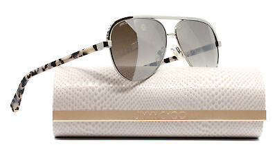 22293480141 Authentic Jimmy Choo Sunglasses Women Lina Silver J8BNQ Lina S 59mm