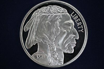 Sunshine Mint SMI 1 oz .999 Buffalo Indian Head Design Silver Round - SI Mint Ma