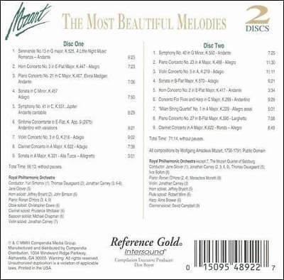 DAMAGED ARTWORK CD : Mozart: The Most Beautiful Melodies