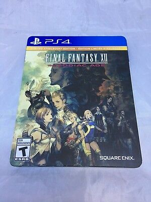 Final Fantasy XII PS4 The Zodiac Age Limited SteelBook Edition + Game
