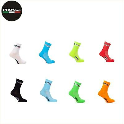 1 Paio Calze Calzini Ciclismo Proline All In One Colour Cycling Socks One Size