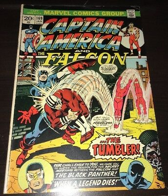Captain America #169 FN+ Marvel 1974 Bronze Age Comic Falcon Black Panther