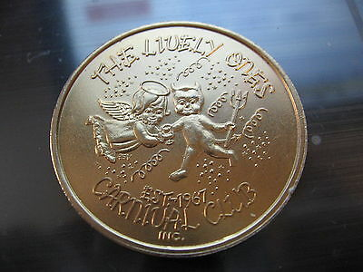 baby angel & devil 1981 Mardi Gras Doubloon Coin new orleans SALE NOLA