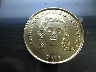 Marilyn Monroe 1974 Mardi Gras Doubloon coin new orleans SALE!! vintage