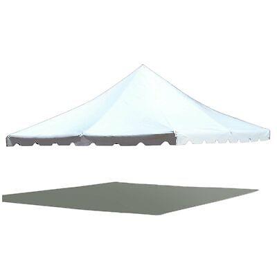 20u0027x20u0027 Pole Tent Replacement Canopy Top 16 Oz Block-Out Waterproof White & REPLACEMENT WHITE TENT Canopy Top for Pole Tent 14oz Vinyl TOP ONLY ...